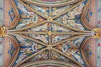 France, Cher (18), Bourges, palais Jacques-Coeur, la le plafond de la chapelle // France, Cher (18), Bourges, Jaques Coeur Palace, the ceiling of the chapel