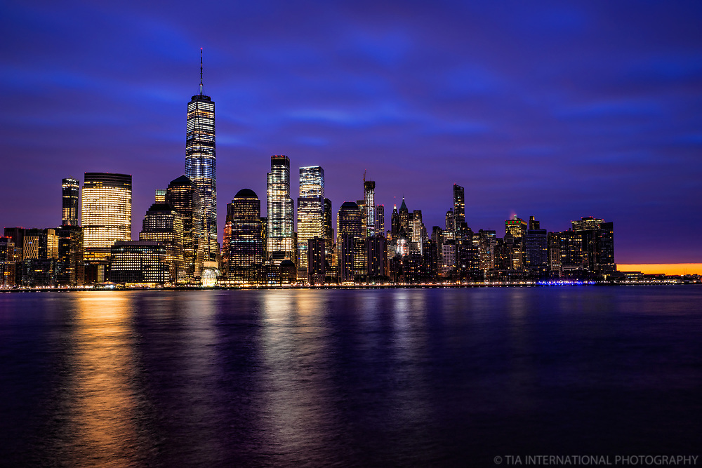 Lower Manhattan Skyline @ Twilight