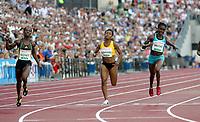 Friidrett , 3. juli 2009 , Golden League , Bislett Games , <br /> <br /> Kelly-Ann Baptiste , Sheri Ann Brooks , Ezinne Okparaebo <br /> 100 metres