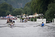 Henley Royal Regatta, Henley on Thames, Oxfordshire, 28 June - 2 July 2017.  Saturday  14:07:03   01/07/2017  [Mandatory Credit/Intersport Images]<br /> <br /> Rowing, Henley Reach, Henley Royal Regatta.<br /> <br /> The Double Sculls Challenge Cup<br />  S. Oppo & P.W. Ruta (Team Italia, Italy) v  P.H. Houin & J.A. Azou (Club France, France)