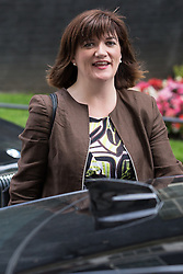© Licensed to London News Pictures . 05/07/2016 . London , UK . NICKY MORGAN leaves . Conservative Party cabinet meeting on Downing Street , London . Photo credit: Joel Goodman/LNP