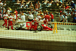 Indianapolis Time Trials, May 1987<br /> #3 - Danny Sullivan<br /> <br /> A scan from an old photo or slide from the collection of Alan and Becky Look dated 1987 and 1988.
