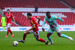 Harry Arter of Nottingham Forest evades the challenge of Marc Guehi of Swansea City  - Mandatory by-line: Nick Browning/JMP - 29/11/2020 - FOOTBALL - The City Ground - Nottingham, England - Nottingham Forest v Swansea City - Sky Bet Championship