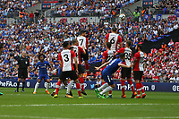 Football - 2017 / 2018 FA Cup - Semi Final: Chelsea vs. Southampton<br /> <br /> Willian of Chelsea lifts a free kick over the wall at Wembley Stadium <br /> <br /> COLORSPORT/SHAUN BOGGUST