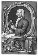 Mezzotint plate depicting Georg Dionysius Ehret  (30 January 1708 – 9 September 1770) a botanist and entomologist known for his botanical illustrations.