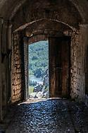 A doorway at Rozafa Castle, also known as Shkodër Castle, in Shkodër, Albania.<br /><br />(September 2013)
