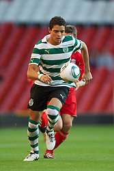 LIVERPOOL, ENGLAND - Wednesday, August 17, 2011: Sporting Clube de Portugal's Tiago Ilori in action against Liverpool during the first NextGen Series Group 2 match at Anfield. (Pic by David Rawcliffe/Propaganda)