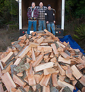 The Mission House delivered a couple cords of wood and here are the friendly energetic volunteers who delivered and unloaded the wood.