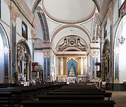 Interior of historic Roman Catholic church Igreja de Santa Maria da Devesa,  Castelo de Vide, Alto Alentejo, Portugal, southern Europe built 1789