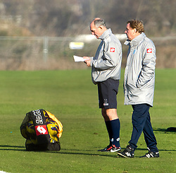 © London News Pictures. 30/11/2012. London, UK. QPR manager Harry Redknapp with coach Joe Jordan during training with QPR team  at the QPR training ground in Harlington, Wes London. Photo credit: Ben Cawthra/LNP