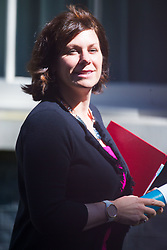 Minister of State at Department for Business, Energy and Industrial Strategy Claire Perry leaves the weekly UK cabinet meeting at 10 Downing Street in London, May 01 2018.