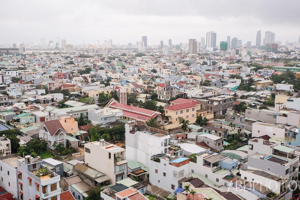 Cityscape view over Danang (Da Nang) city and beach in Vietnam Da Nang Viet Nam