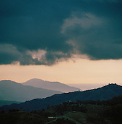 Stormy skies over the landscapes of Jacmel, Haiti