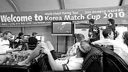 Racing postponed due to lack of wind. Sailors Lounge. Korea Match Cup 2010. World Match Racing Tour. Gyeonggi, Korea. 10th June 2010. Photo: Ian Roman/Subzero Images.