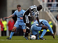 Fotball<br /> FA-cup 2005<br /> Newcastle v Coventry<br /> 29. januar 2005<br /> Foto: Digitalsport<br /> NORWAY ONLY<br /> Amdy Faye makes an excellent, goalscoring debut for Newcastle