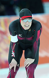Claudia Pechstein (Germany) during the women's 3000m in speed skating at the XXII Olympic Winter Games in Sochi.  *** Local Caption *** © pixathlon