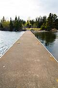 Evening at the Daisy Farm Campground dock, Isle Royale National Park, Lake Superior, Michigan, USA