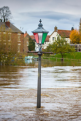© Licensed to London News Pictures. 03/11/2020. Cawood UK. The River Ouse water level in the village of Cawood is extremely high, the village is approx 10 miles down stream from York which broke its banks today & flooded riverside properties after days of heavy rain. Photo credit: Andrew McCaren/LNP
