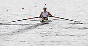Lucerne, SWITZERLAND, CAN M1X,  Fraser BERKHOUT, moves away from the start, of the third round of the  2009 FISA World Cup,  on the Rottsee regatta Course, Friday  10/07/2009  [Mandatory Credit Peter Spurrier/ Intersport Images].