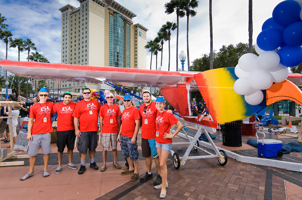 Participants pose for a portrait at Red Bull Flugtag in Tampa Bay, Florida Usa on October 08 2011.