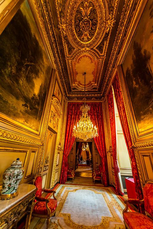 Apartment, Napoleon III, Louvre Museum, Paris, France.