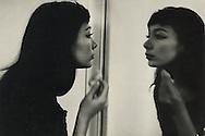 """Juliette Greco, a famous french singer at the Ritz hotel in London, she was there to film """" That""""s your life"""" on TV/BBC about Larry Adler. A show that features a well known personality during which they bring in friends and relatives.<br /> <br /> Juliette Greco, célèbre chanteuse française, à l'hôtel Ritz à Londres. Elle était là pour filmer """" That""""s your life"""" à la télévision / BBC sur Larry Adler . Une emission qui decouvre une personnalité bien connue via ses amis et parents ."""