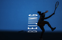 Oct. 2, 2018 - Beijing, China - ZHENG SAISAI of China hits a return during the women's singles second round match against Sloane Stephens of the United States at China Open tennis tournament in Beijing. Zheng Saisai lost 0-2. (Credit Image: © Fei Maohua/Xinhua via ZUMA Wire)