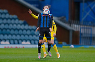 Rochdale midfielder Ollie Rathbone (14) controls the ball  during the EFL Sky Bet League 1 match between Rochdale and AFC Wimbledon at the Crown Oil Arena, Rochdale, England on 21 November 2020.