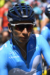 June 14, 2018 - Gommiswald, Suisse - GOMMISWALD, SWITZERLAND - JUNE 14 : QUINTANA Nairo (COL)  of Movistar Team during stage 6 of the Tour de Suisse cycling race, a stage of 186 kms between Fiesch and Gommiswald on June 14, 2018 in Gommiswald, Switzerland, 14/06/2018 (Credit Image: © Panoramic via ZUMA Press)