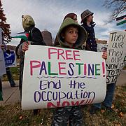 Demonstration in Kansas City Missouri against Israeli military activities against the Palestinians - November 2012.