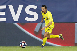 May 15, 2019 - Foxborough, MA, U.S. - FOXBOROUGH, MA - MAY 15: Chelsea FC forward Pedro (11) pushes the ball forward during the Final Whistle on Hate match between the New England Revolution and Chelsea Football Club on May 15, 2019, at Gillette Stadium in Foxborough, Massachusetts. (Photo by Fred Kfoury III/Icon Sportswire) (Credit Image: © Fred Kfoury Iii/Icon SMI via ZUMA Press)