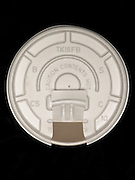 over head view of plastic lid on cup