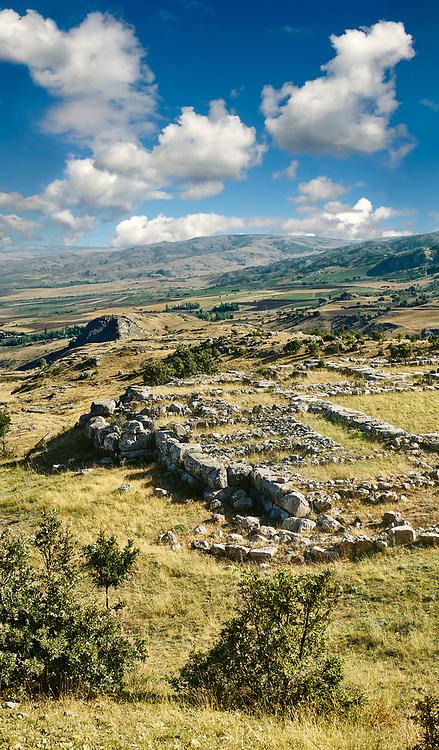 Upper Temple, Hattusa (also Ḫattuša or Hattusas) late Anatolian Bronze Age capital of the Hittite Empire. Hittite archaeological site and ruins, Boğazkale, Turkey.