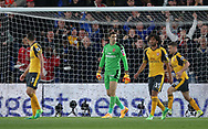 Arsenal's Emiliano Martinez looks on dejected after going behind during the Premier League match at Selhurst Park Stadium, London. Picture date: April 10th, 2017. Pic credit should read: David Klein/Sportimage