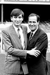 Ex-Leicester City striker alongside Arsenal manager George Graham after signing a deal worth £800,000.