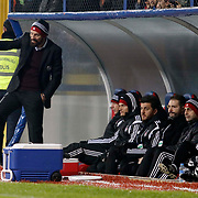 Besiktas's coach Slaven Bilic (L) during their Turkish superleague soccer match Kardemir Karabukspor between Besiktas Dr. Necmettin Seyhoglu stadium in Karabuk Turkey on Monday 01 December 2014. Photo by Kurtulus YILMAZ/TURKPIX