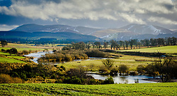 The River Clyde in spate in  South Lanarkshire near Biggar, Scotland<br /> <br /> (c) Andrew Wilson | Edinburgh Elite media