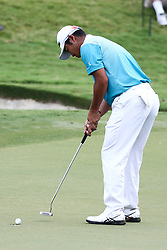 August 11, 2017 - Charlotte, North Carolina, United States - Hideki Matsuyama putts the 16th green during the second round of the 99th PGA Championship at Quail Hollow Club. (Credit Image: © Debby Wong via ZUMA Wire)