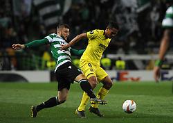February 14, 2019 - Na - Lisbon, 02/14/2019 - Sporting Clube de Portugal received the Villarreal Club de Fútbol tonight at the Estádio de Alvalade in the first leg of the 16-game Europa League 2018/2019. Ristovski  (Credit Image: © Atlantico Press via ZUMA Wire)