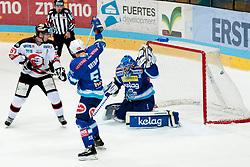 19.10.2012, Hostan Arena, Znojmo, CZE, EBEL, HC Orli Znojmo vs EC Villacher SV, 13. Runde, im Ondrej Fialal (Znojmo #67) Scott Hotham (Villacher #55).Thomas Honeckl (Villacher #31) // during the Erste Bank Icehockey League 13nd round match betweeen HC Orli Znojmo and EC Villacher SV at the Hostan Arena, Znojmo, Czech Republic on 2012/10/19. EXPA Pictures © 2012, PhotoCredit: EXPA/ Rostislav Pfeffer