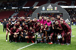 March 22, 2019 - Madrid, MADRID, SPAIN - Venezuela team celebrates the victory during the international friendly football match played between Argentina and Venezuela at Wanda Metropolitano Stadium in Madrid, Spain, on March 22, 2019. (Credit Image: © AFP7 via ZUMA Wire)