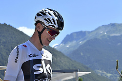 July 19, 2018 - Alpe D Huez, France - ALPE D'HUEZ, FRANCE - JULY 19 : FROOME Chris (GBR) of Team SKY during stage 12 of the 105th edition of the 2018 Tour de France cycling race, a stage of 175.5 kms between Bourg-Saint-Maurice Les Arcs and Alpe D'huez on July 19, 2018 in Alpe D'huez, France, 19/07/2018 (Credit Image: © Panoramic via ZUMA Press)