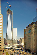 View of Ground Zero and the Freedom Tower from 225 Rector Place, 11th floor