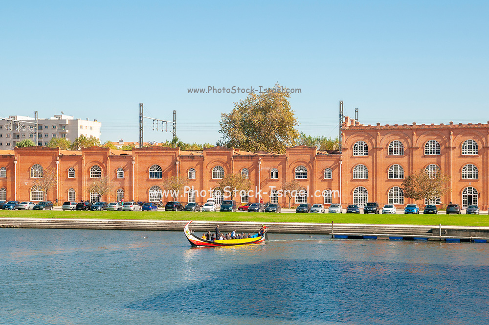 Former ceramic tile factory along the Central Canal Aveiro, Portugal