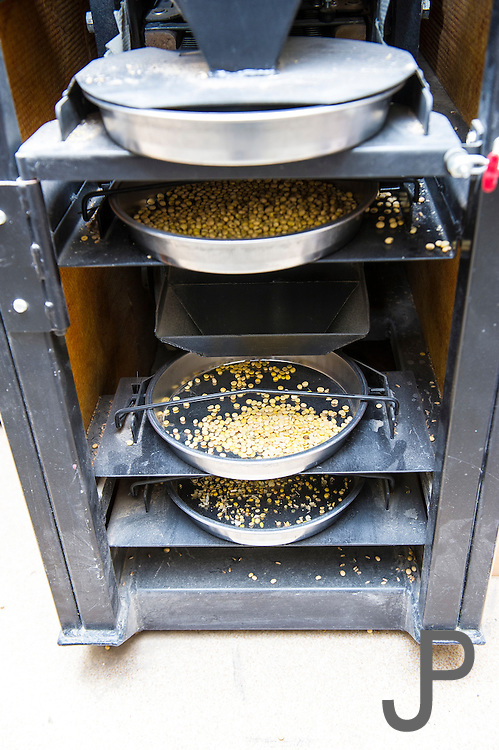 """A grain tester is used to test for grain moister and contaminates, aka """"dockage"""" - chaff, stems, and leaves that are not part of the grain."""