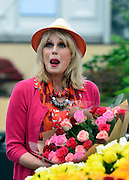 © Licensed to London News Pictures. 20/05/2013. London, UK Joanna Lumley. Press day at Chelsea Flower Show 2013. The centenary edition of the show attracts large number of visitors and is already sold out before opening day. Photo credit : Stephen Simpson/LNP