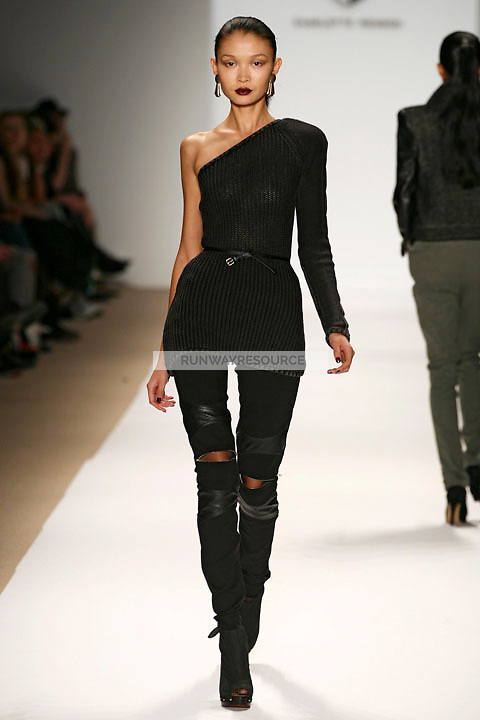 Eugenia Mandzhieva wearing the Charlotte Ronson Fall 2009 Collection