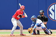 09 June 2012: Florida catcher Mike Zunino (right) catches a pitch taken by NC State's Tarran Senay (32). The University of Florida Gators defeated the North Carolina State University Wolfpack 7-1 at Alfred A. McKethan Stadum in Gainesville, Florida in Game 1 of their NCAA College Baseball Super Regional series.