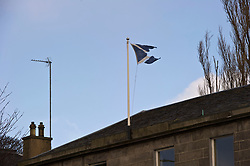 Pictured: <br /> Will Scotland be split once again over another independence referendum. The tattered flag about the old Minto Hotel in Edinburgh could be a prophecy<br /> <br /> <br /> Ger Harley | EEm 14 March 2017