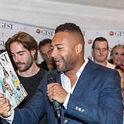 NLD/Amsterdam//20170706 - Lancering 'GTST' Magazine, Everon Jackson Hooi met het magazine